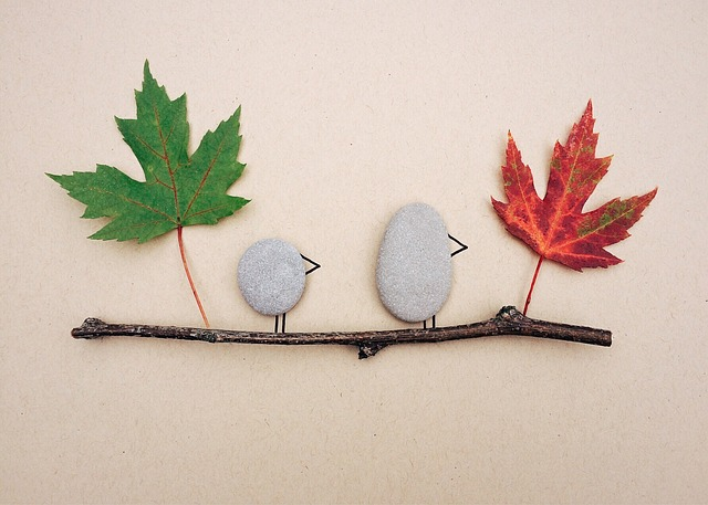 Fall leaf and rock craft