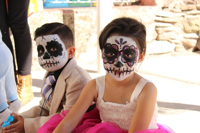 Homemade Halloween or Day of the Dead costume