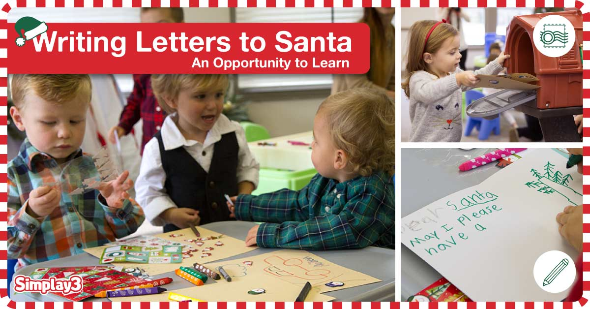 Write letters to Santa to work on letter recognition & fine motor skills