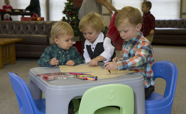 Play Around Table & Chairs is durable and fits multiple kids