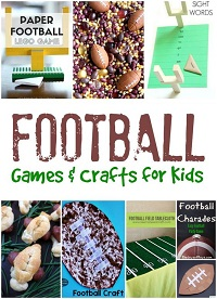 Football crafts and activities for kids