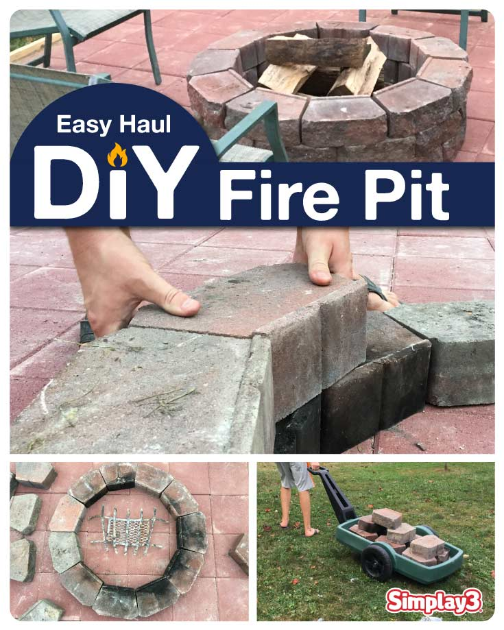 The Easy Haul DIY Fire Pit tutorial, 8 steps to enjoy backyard fires.