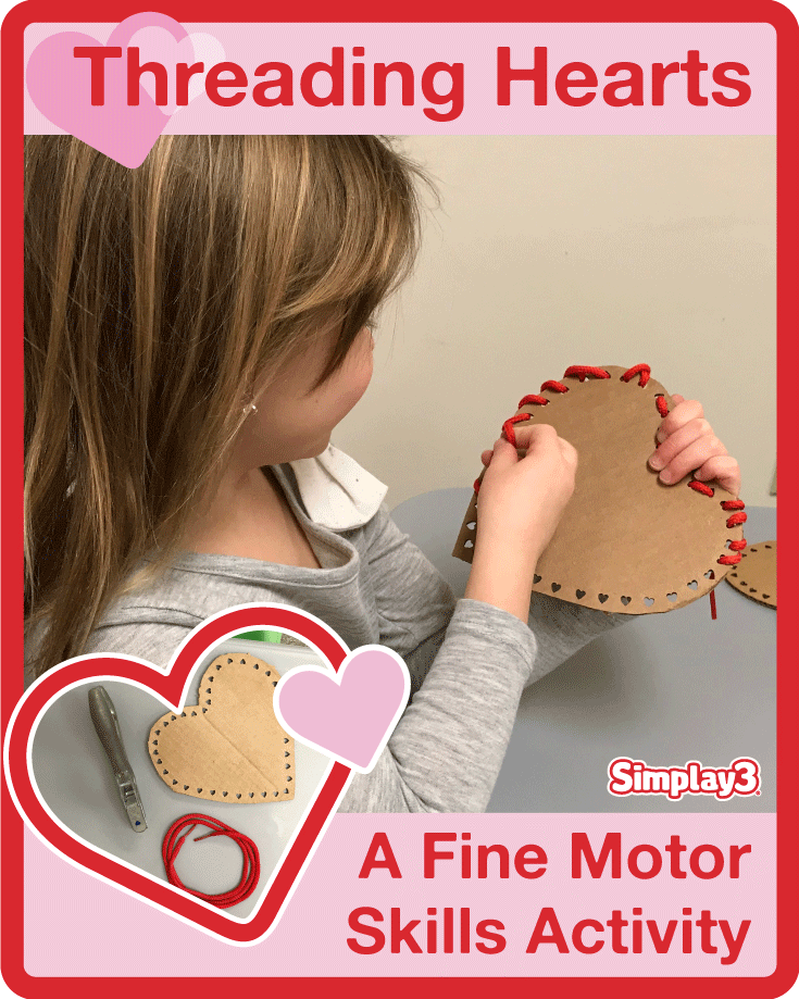 See how your toddler can work on fine motor skill development with this Valentine's Day activity.